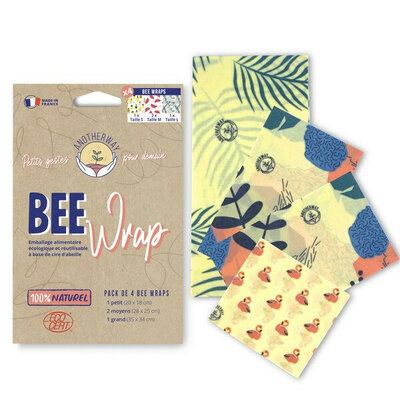 Bee Wrap pack des curieux 4 emballages Tropical