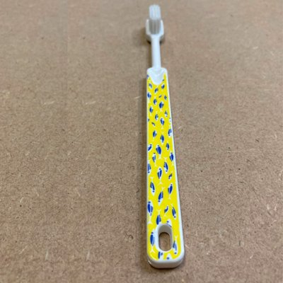 Brosse à dents à tête rechargeable Wax - imprimé jaune - souple