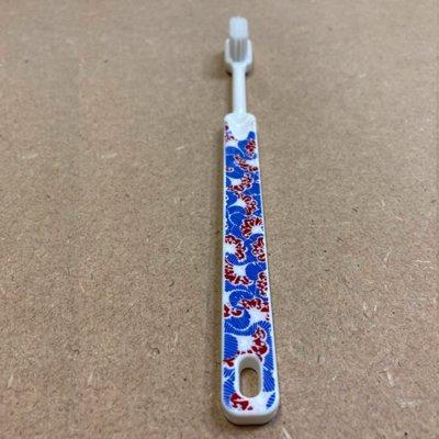 Brosse à dents à tête rechargeable Wax - imprimé bleu rouge - souple