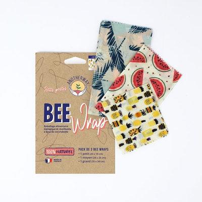 Bee Wrap 2 emballages réutilisables Tropiques taille L