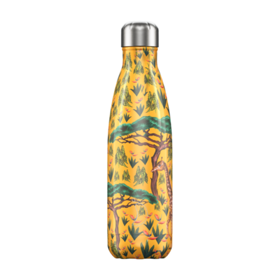 Bouteille Girafe Tropical 500 ml inox, isotherme et sans BPA