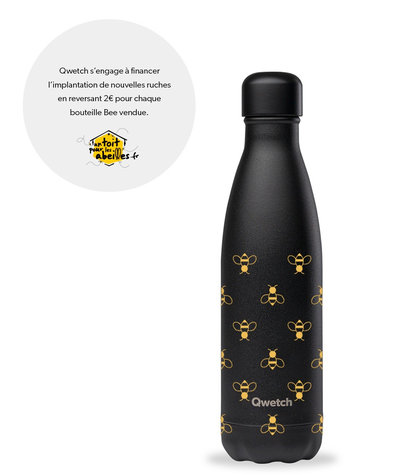 Bouteille Bee motif abeilles 500 ml inox isotherme