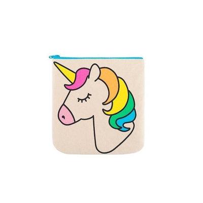Trousse fourre-tout à fermeture Zip Unicorn motif licorne