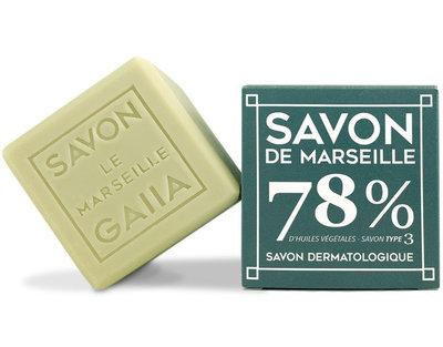 Cube de savon de Marseille 250 g pur olive/coco/chanvre bio