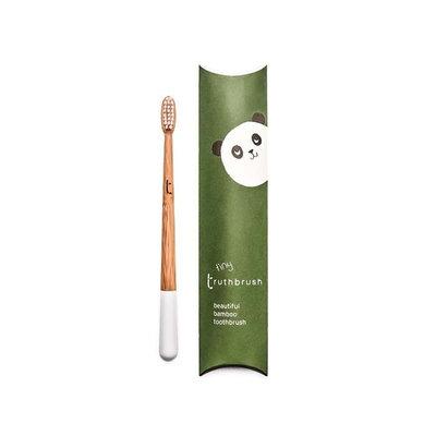 Brosse à dents enfant Nuage Blanc en bambou, poils végétaux et huile de ricin