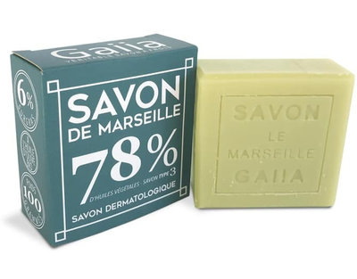 Cube de savon de Marseille 100g pur olive/coco/chanvre bio