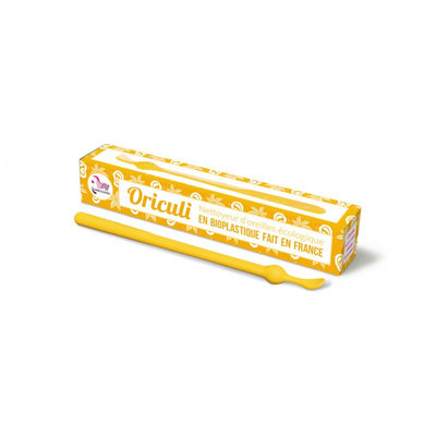 Oriculi en bioplastique coloris jaune