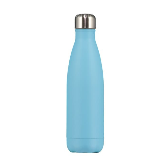 Bouteille pastel bleu 500 ml inox, isotherme
