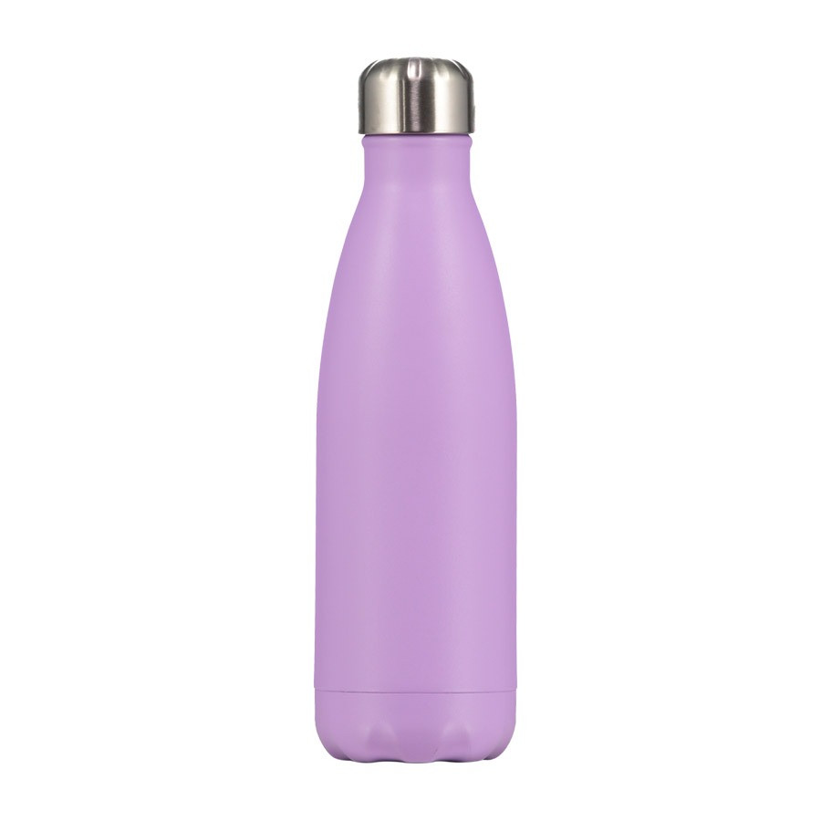 Bouteille pastel violet 500 ml inox, isotherme