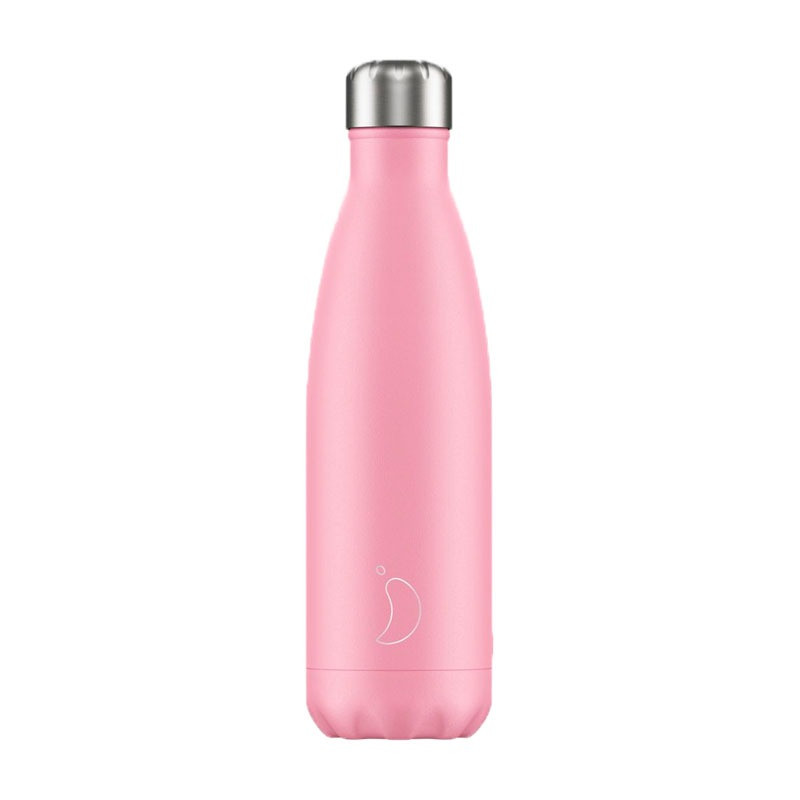 Bouteille rose pastel 750 ml inox, isotherme