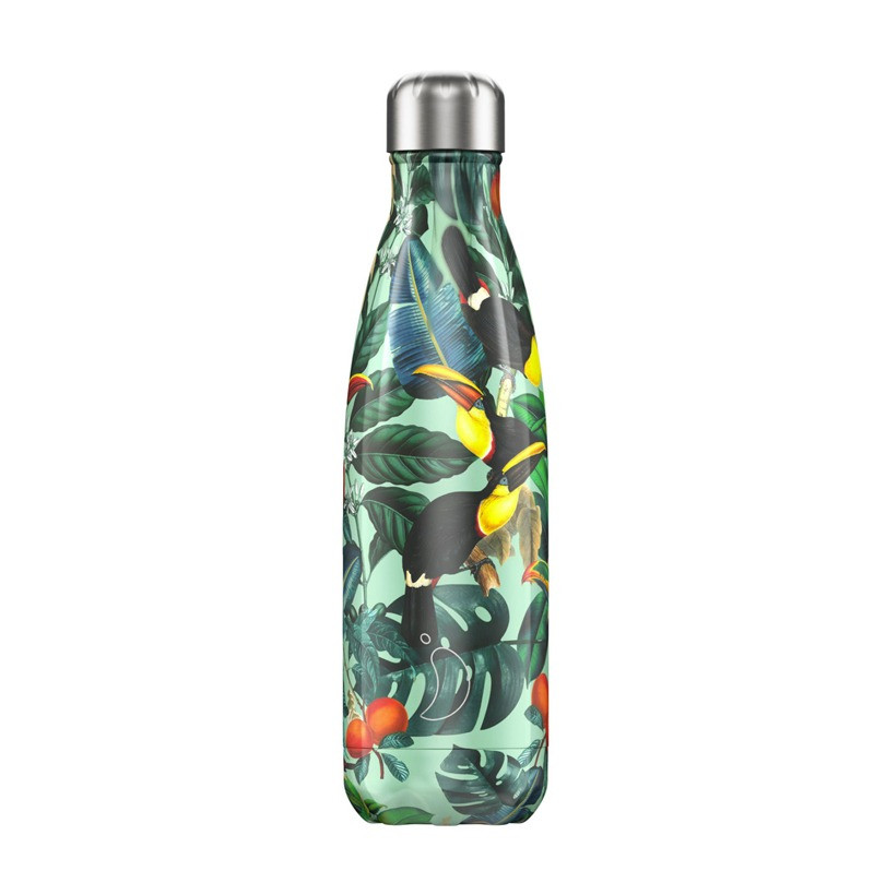 Bouteille Tropicale Toucan 500 ml inox, isotherme
