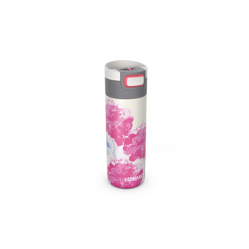 Mug isotherme Etna Pink blossom 500 ml inox anti fuite