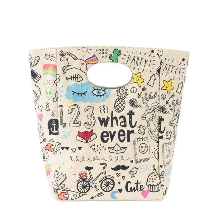 Sac repas Whatever Classic Lunch en coton bio