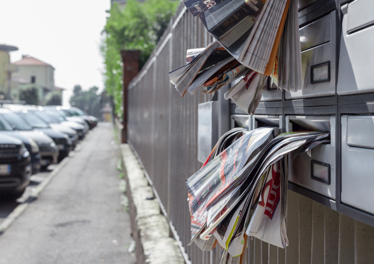 Boîtes aux lettres pleines de prospectus