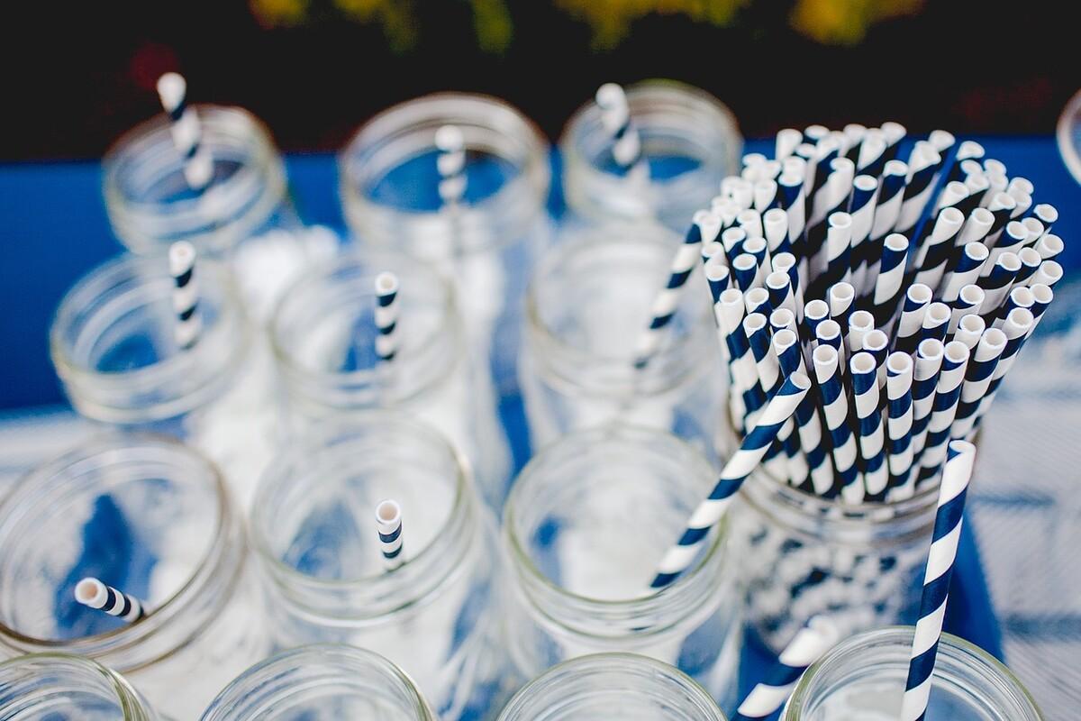 Bocaux en verre pour pailles